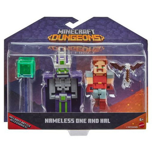 Minecraft Dungeons Nameless One & Hal Action Figure 2-Pack