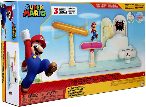 World of Nintendo Super Mario Cloud 2.5-Inch Playset [Includes Running Mario!]