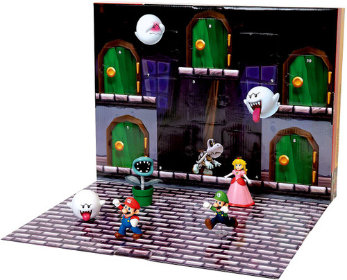World of Nintendo Super Mario Treats at Home Halloween Pack Playset [Includes 8 Mini Figures & 2 Accessories!]