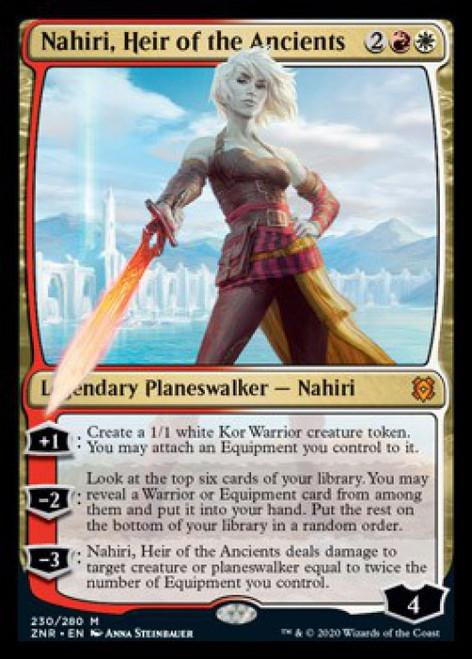 MtG Zendikar Rising Mythic Rare Nahiri, Heir of the Ancients #230