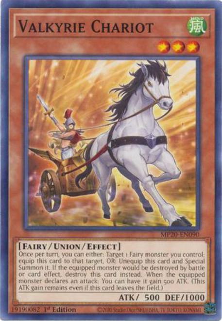 YuGiOh 2020 Tin of Lost Memories Common Valkyrie Chariot MP20-EN090