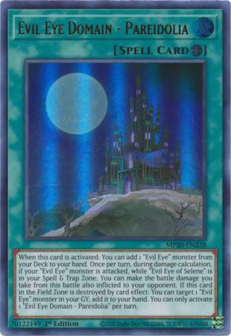 YuGiOh 2020 Tin of Lost Memories Ultra Rare Evil Eye Domain - Pareidolia MP20-EN238