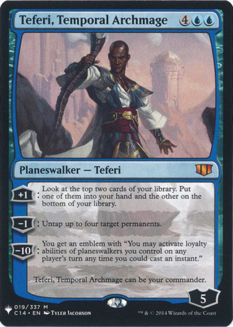 MtG Mystery Booster / The List Mythic Rare Teferi, Temporal Archmage #19