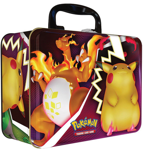 Pokemon Trading Card Game 2020 Collector's Chest Charizard & Pikachu Tin Set [5 Booster Packs, 3 Promo Cards, Mini Portfolio, Coin & More]