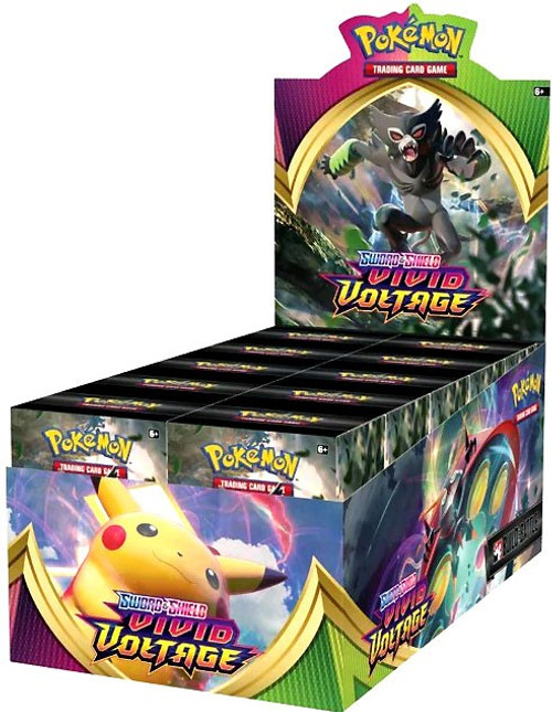 Pokemon Trading Card Game Sword & Shield Vivid Voltage Build & Battle DISPLAY Box [10 Units]