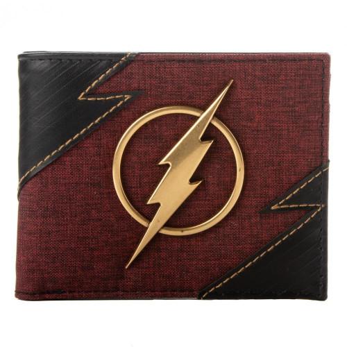 DC The Flash Metal Badge Bifold Wallet