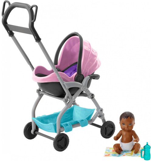 Barbie Skipper Babysitters Inc Pink Stroller Mini Doll Playset