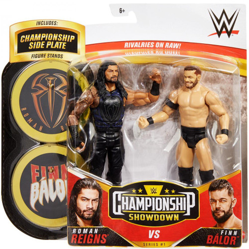 WWE Wrestling Championship Showdown Series 1 Roman Reigns vs Finn Balor Action Figure 2-Pack (Pre-Order ships November)