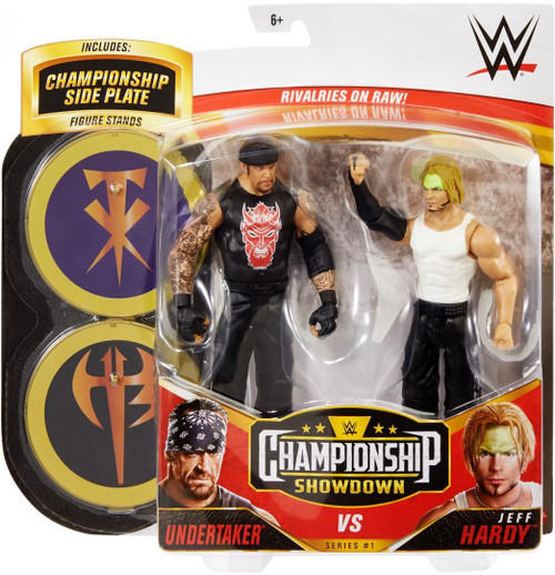 WWE Wrestling Championship Showdown Series 1 Undertaker vs Jeff Hardy Action Figure 2-Pack (Pre-Order ships January)