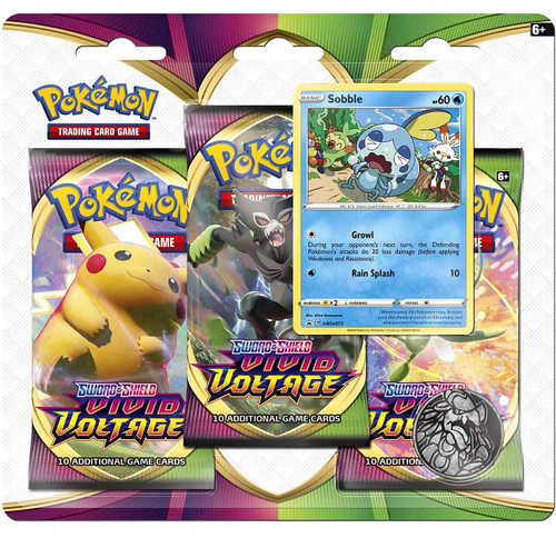 Pokemon Trading Card Game Sword & Shield Vivid Voltage Sobble Special Edition [3 Booster Packs & Promo Card]