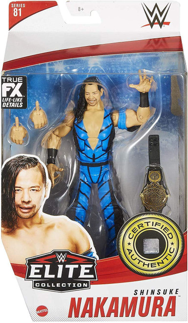 WWE Wrestling Elite Collection Series 81 Shinsuke Nakamura Action Figure [Blue Gear, Regular Version]
