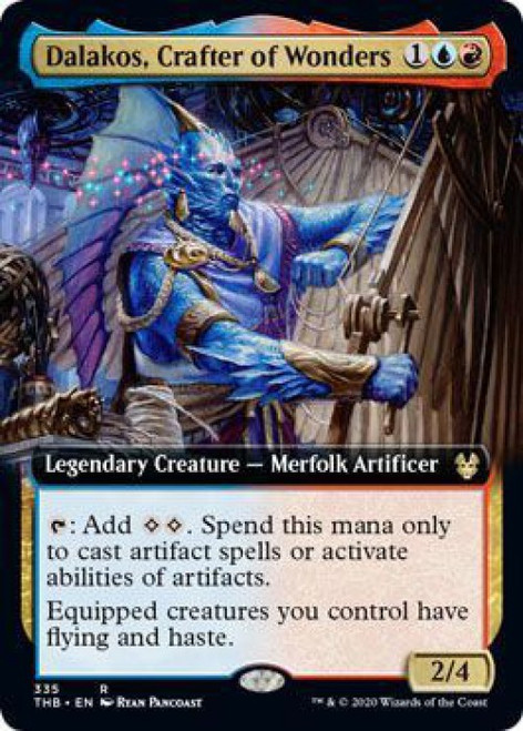 MtG Theros Beyond Death Rare Dalakos, Crafter of Wonders #335 [Extended Art]