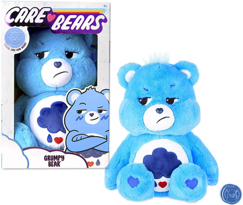 Care Bears Grumpy Bear 14-Inch Plush with Collectible Coin
