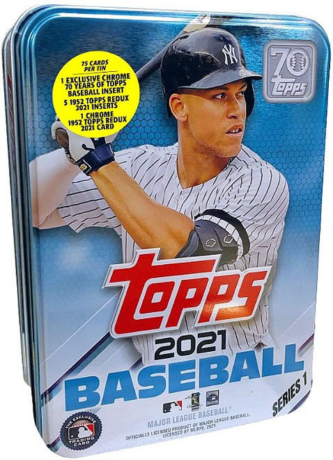 MLB Topps 2021 Series 1 Baseball Aaron Judge Trading Card Tin Set [75 Cards]