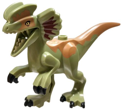LEGO Jurassic World Olive Green Dilophosaurus [Loose]