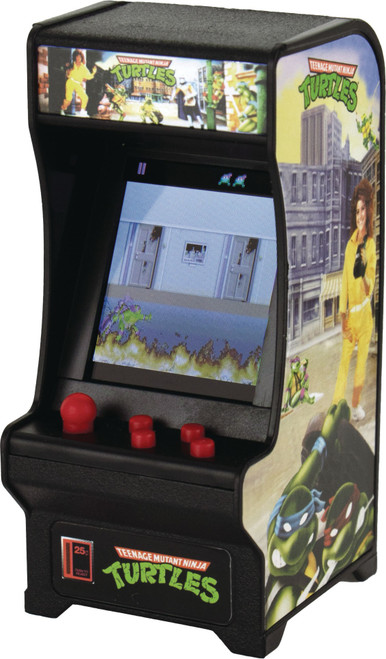 Tiny Arcade Teenage Mutant Ninja Turtles 4-Inch Micro Video Game Cabinet