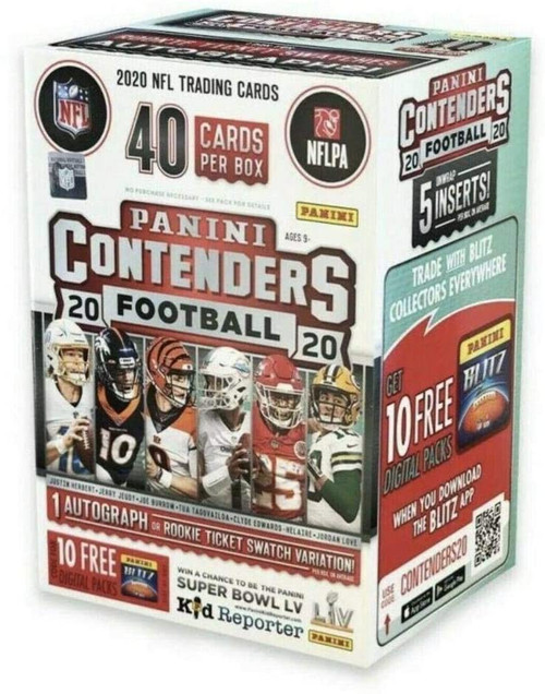 NFL Panini 2020 Contenders Football Trading Card BLASTER Box [5 Packs] (Pre-Order ships May)
