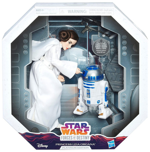 Star Wars Forces of Destiny Princess Leia Organa & R2-D2 Figure 2-Pack [Platinum Edition]