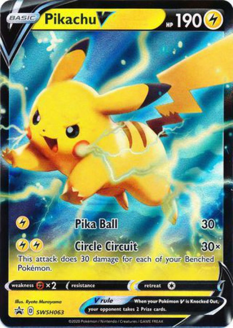 Pokemon Sword & Shield Promo Rare Holo Pikachu V SWSH063