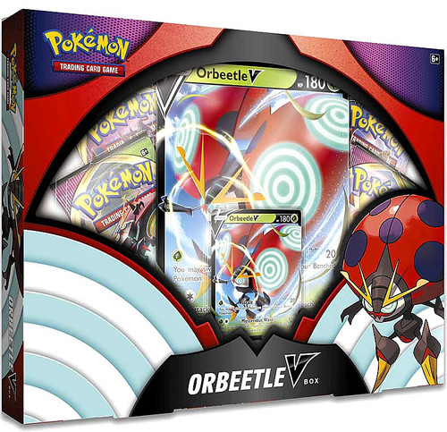 Pokemon Trading Card Game Sword & Shield Orbeetle V Box [4 Booster Packs, Promo Card & Oversize Card]