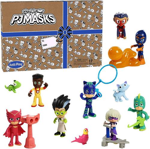 Disney Junior PJ Masks Exclusive 3-Inch 17-Piece Deluxe Figure Set [Includes Catboy, Owlette, Gekko, Romeo, Luna Girl, Night Ninja, Munkigu & Newton Star!]