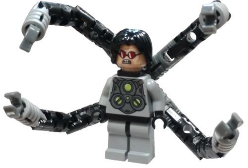 LEGO Marvel Super Heroes Ultimate Spider-Man Dr. Octopus (Otto Octavius) / Doc Ock Minifigure [Gray suit Loose]