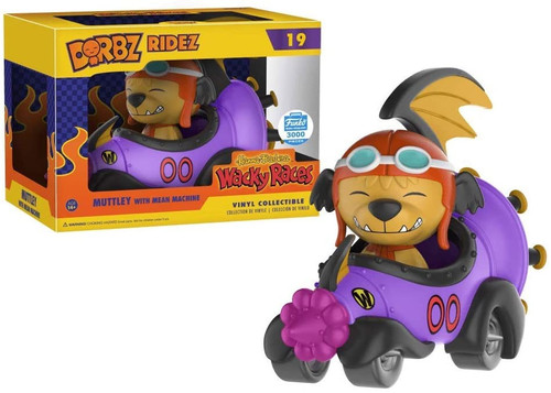 Funko Hanna-Barbera Wacky Races Dorbz Ridez Muttley with Mean Machine Exclusive Vinyl Collectible