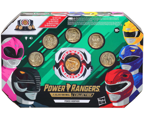 Power Rangers Mighty Morphin Lightning Collection Power Morpher Exclusive Power Coin Set