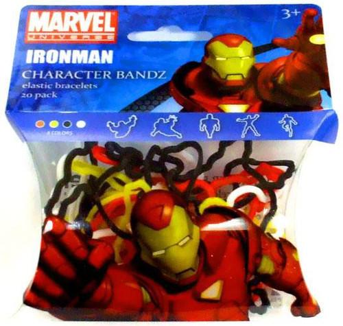 Marvel Character Bandz Iron Man Shaped Rubber Band Bracelets [20-Pack]