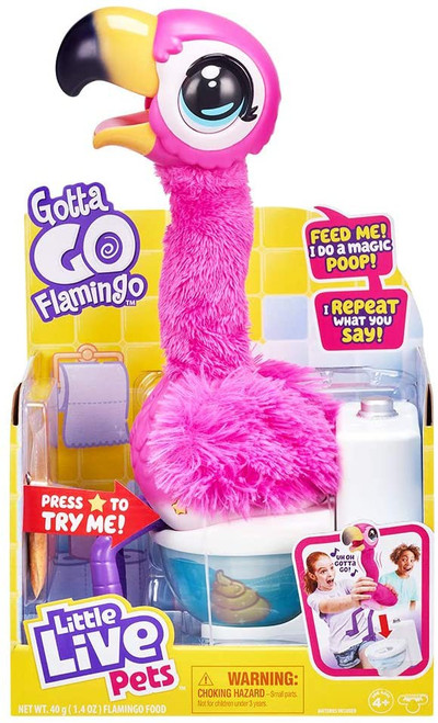 Little Live Pets Gotta Go Flamingo Interactive Plush Toy [Eats, Sings, Wiggles, Poops & Talks!] (Pre-Order ships April)