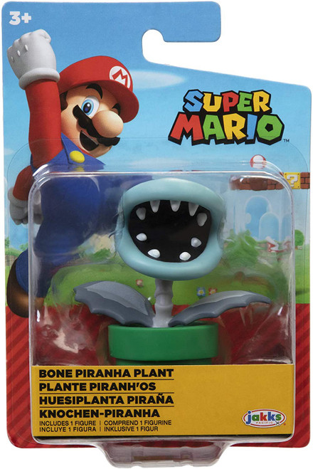World of Nintendo Super Mario Wave 27 Bone Piranha Plant 2.5-Inch Mini Figure (Pre-Order ships January)