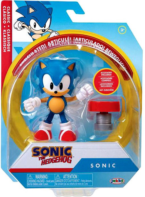 Sonic The Hedgehog Basic Wave 4 Sonic Action Figure [Classic, with Spring] (Pre-Order ships February)