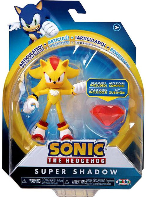 Sonic The Hedgehog Basic Wave 4 Super Shadow Action Figure [Modern, with Chaos Emerald]
