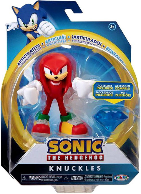 Sonic The Hedgehog Basic Wave 4 Knuckles Action Figure [Modern, with Chaos Emerald] (Pre-Order ships February)