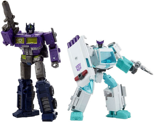 Transformers Generations Selects Shattered Glass Optimus Prime & Ratchet Voyager Action Figure (Pre-Order ships February)