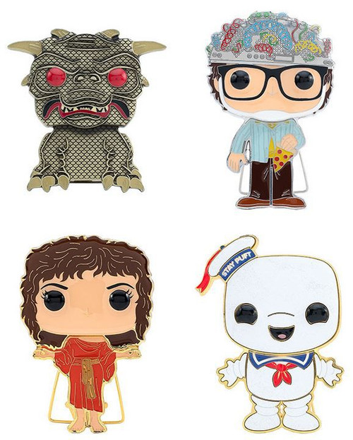 Funko Ghostbusters POP! Pins Zuul, The Key Master, Stay Puft & The Gate Keeper Set of 4 Large Enamel Pins (Pre-Order ships November)