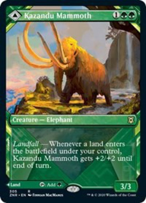 MtG Zendikar Rising Rare Kazandu Mammoth // Kazandu Valley #305 [Showcase]