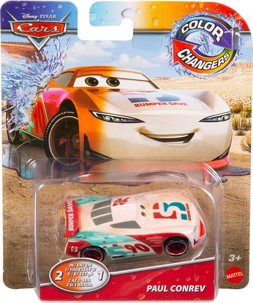 Disney / Pixar Cars Cars 3 Color Changers Paul Conrev Diecast Car