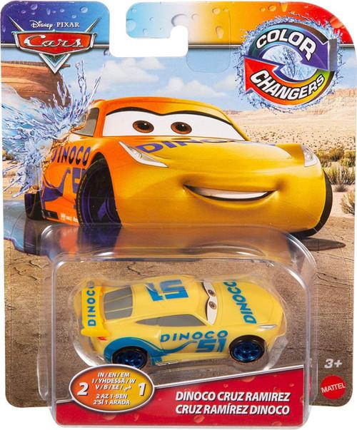 Disney / Pixar Cars Cars 3 Color Changers Dinoco Cruz Ramirez Diecast Car
