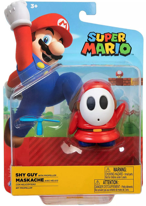 World of Nintendo Super Mario Red Shy Guy Action Figure [with Propeller]