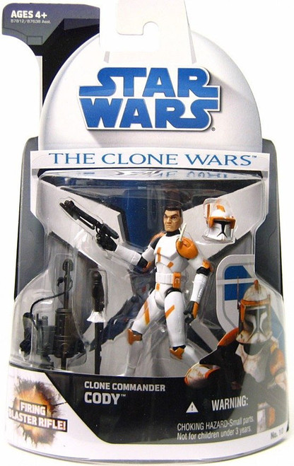 Star Wars The Clone Wars 2008 Clone Commander Cody Action Figure #10 [Damaged Package]