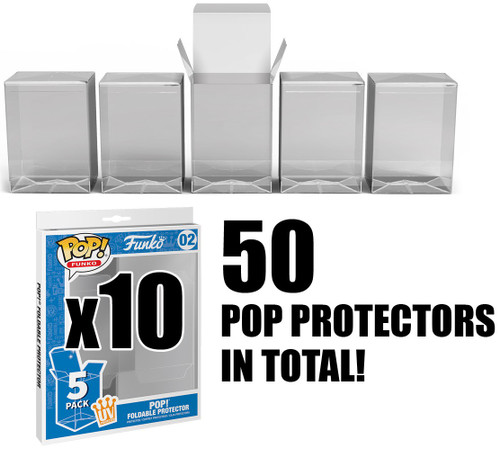 Funko POP! Foldable Protector LOT of 10 5-Packs [50 Protectors in Total!]