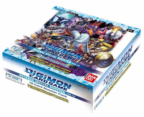Digimon Card Game Release Special Booster Ver 1.0 Booster Box [24 Packs] (Pre-Order ships February, 2021)