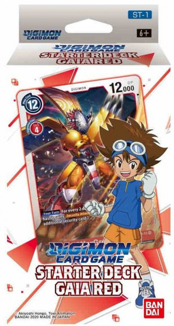 Digimon Card Game Gaia Red Starter Deck ST-1 (Pre-Order ships February, 2021)