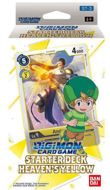 Digimon Trading Card Game Heavens Yellow Starter Deck ST-3 [54 Cards]