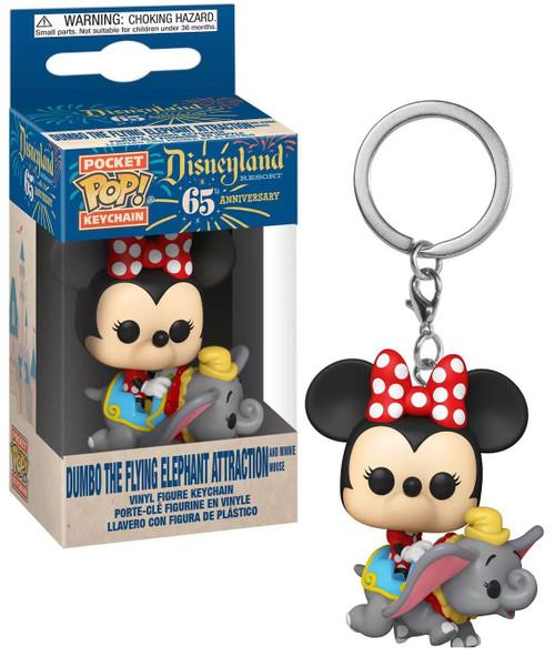 Funko Disneyland 65th Anniversary POP! Keychain Flyng Dumbo Ride with Minnie Vinyl Figure