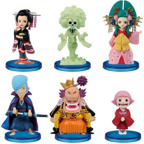One Piece WCF World Collectable Figure Wano Country 3-Inch Set of 6 Mini Figures (Pre-Order ships February)