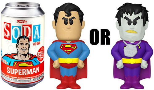 Funko DC Comics Vinyl Soda Superman Limited Edition of 15,000! Vinyl Figure [1 RANDOM Figure Look For The Rare Chase!]