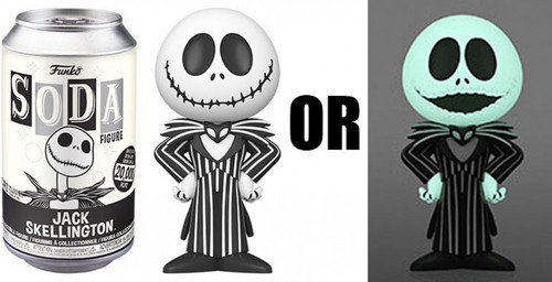 Funko The Nightmare Before Christmas Vinyl Soda Jack Skellington Limited Edition of 20,000! Vinyl Figure [1 RANDOM Figure! Look For The Rare Chase!] (Pre-Order ships January)