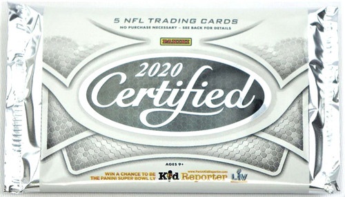 NFL Panini 2020 Certified Football Trading Card HOBBY Pack [5 Cards!]
